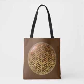 Flower Of Life / Blume des Lebens - gold grid ball Tote Bag