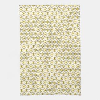 Flower of Life / Blume des Lebens - gold pattern Tea Towel