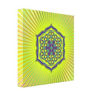 Flower Of Life Blume des Lebens - Lotus Contour Canvas Prints