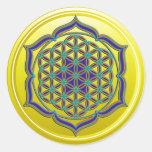 Flower Of Life / Blume des Lebens - Lotus Contour Round Sticker