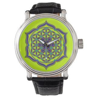 Flower Of Life / Blume des Lebens - Lotus Contour Wrist Watches