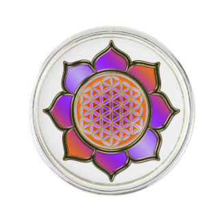 Flower of Life / Blume des Lebens - Lotus violet Lapel Pin