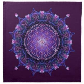 FLOWER OF LIFE / Blume des Lebens - Mandala I Napkin