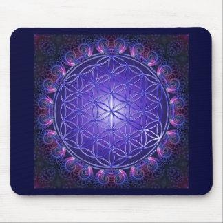 FLOWER OF LIFE / Blume des Lebens Mandala I Square Mouse Pads