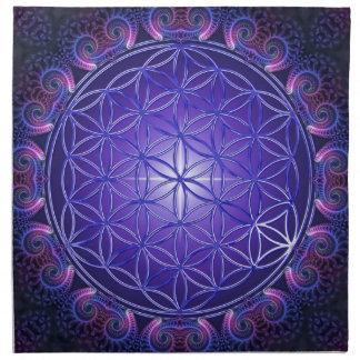 FLOWER OF LIFE / Blume des Lebens Mandala I Square Napkin