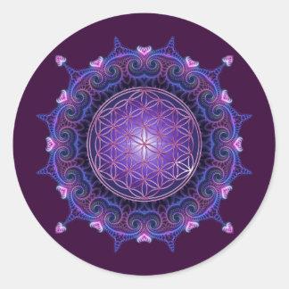 FLOWER OF LIFE Blume des Lebens - Mandala I Round Stickers