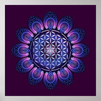 FLOWER OF LIFE / Blume des Lebens - Mandala II Print