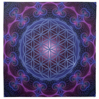 FLOWER OF LIFE/Blume des Lebens Mandala II Square Napkin