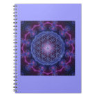 FLOWER OF LIFE/Blume des Lebens Mandala II Square Notebook