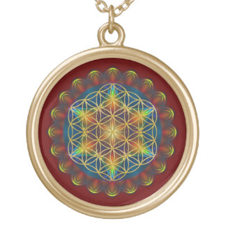 FLOWER OF LIFE / Blume des Lebens - Mandala III Gold Plated Necklace