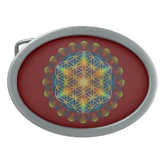 FLOWER OF LIFE / Blume des Lebens - Mandala III Oval Belt Buckle