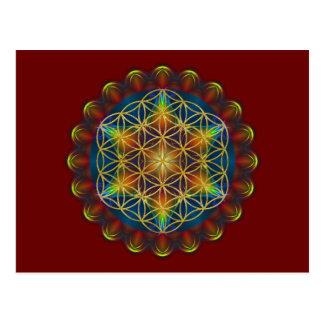 FLOWER OF LIFE / Blume des Lebens - Mandala III Postcard