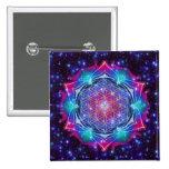 FLOWER OF LIFE/Blume des Lebens Mandala IV Square 15 Cm Square Badge