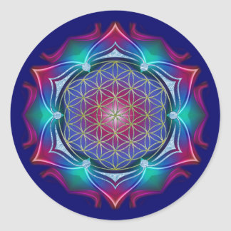 FLOWER OF LIFE Blume des Lebens - Mandala IV Sticker