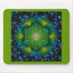 FLOWER OF LIFE/Blume des Lebens Mandala V Square Mousepad