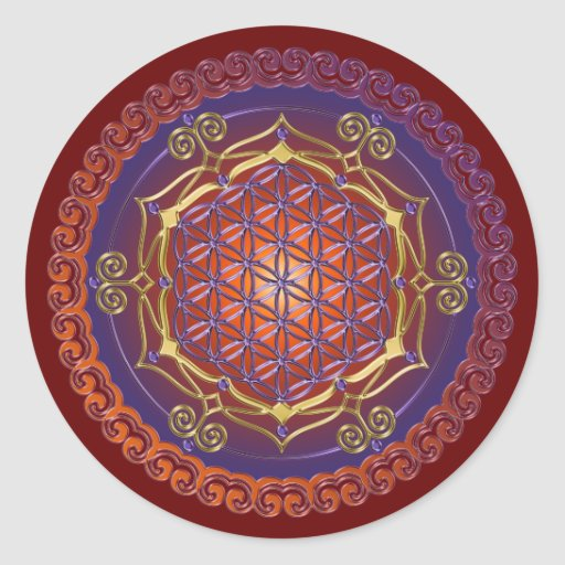 FLOWER OF LIFE / Blume des Lebens - Ornament I Sticker