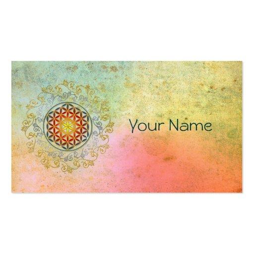 Flower of Life / Blume des Lebens - Ornament IV BG Business Cards