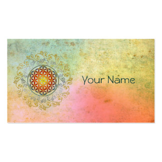Flower of Life / Blume des Lebens - Ornament IV BG Pack Of Standard Business Cards