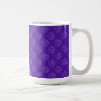 Flower Of Life / Blume des Lebens - pattern violet Basic White Mug