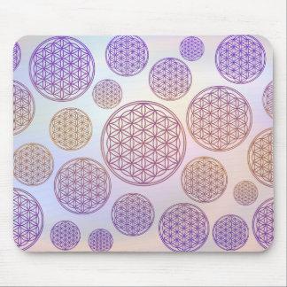 Flower of Life / Blume des Lebens - pattern violet Mouse Pad