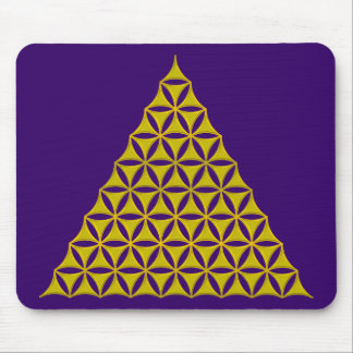 Flower Of Life / Blume des Lebens - pyramid gold Mouse Pad