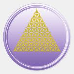 Flower Of Life / Blume des Lebens - pyramid gold Round Sticker