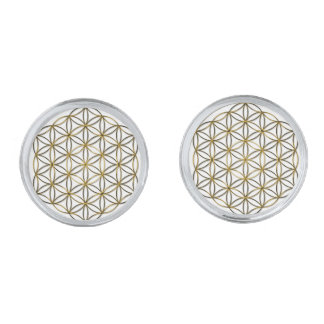 Flower of Life (Blume des Lebens) Silver Finish Cuff Links