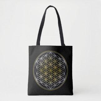 Flower Of Life / Blume des Lebens - silver gold Tote Bag