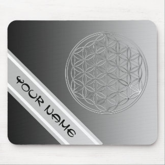 Flower Of Life / Blume des Lebens - silver Mouse Pad