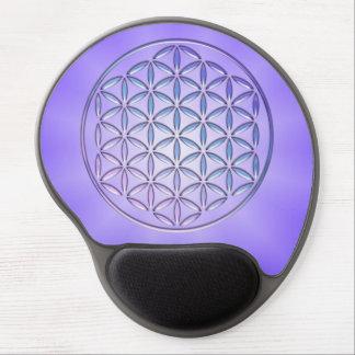 Flower of Life / Blume des Lebens - stamp violet Gel Mouse Pad