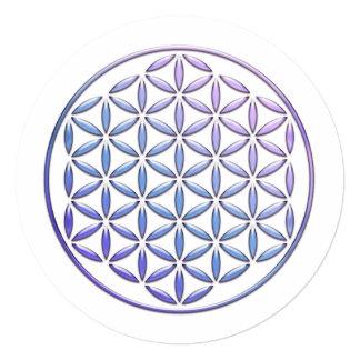 Flower Of Life / Blume des Lebens - stamp violet 13 Cm X 13 Cm Square Invitation Card