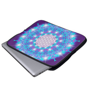 FLOWER OF LIFE/Blume des Lebens Stars Mandala Laptop Sleeve