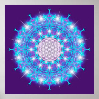 FLOWER OF LIFE Blume des Lebens Stars Mandala Print