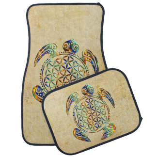 Flower of Life / Blume des Lebens - turtle colored Car Mat