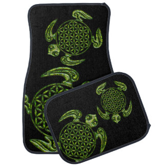 Flower of Life / Blume des Lebens - turtle green Car Mat