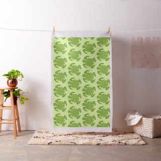 Flower Of Life / Blume des Lebens - turtle green Fabric