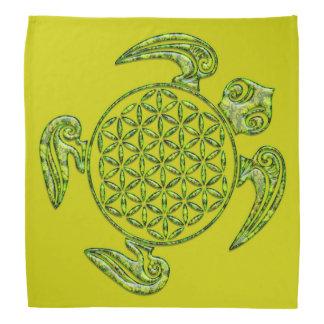 Flower of Life / Blume des Lebens - turtle green Kerchief