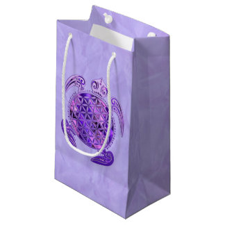 Flower Of Life / Blume des Lebens - turtle purple Small Gift Bag