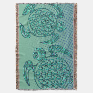 Flower of Life / Blume des Lebens turtle turquoise