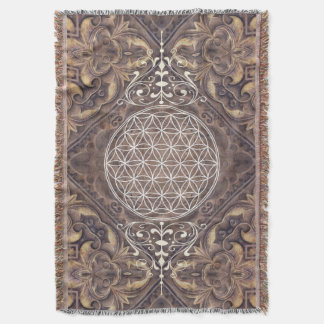 Flower of Life / Blume des Lebens - vintage I Throw Blanket