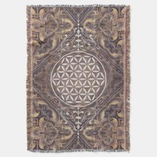 Flower of Life / Blume des Lebens - vintage II Throw Blanket