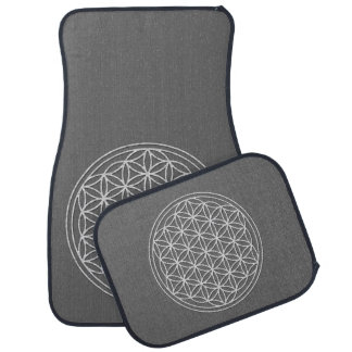 Flower Of Life / Blume des Lebens - white Car Mat