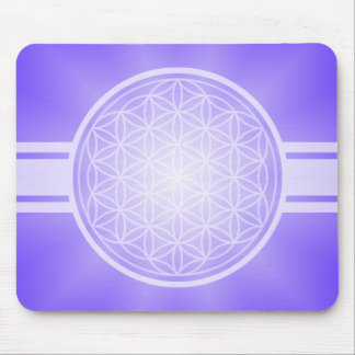 Flower of Life / Blume des Lebens - white transpa. Mouse Pad