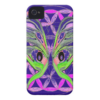 Flower of Life Butterfly Connection iPhone 4 Case-Mate Case