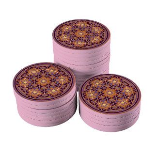 Flower of Life - Button II Poker Chips Set