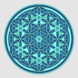 Flower Of Life - Button Style 01 Round Sticker