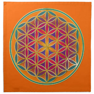 Flower Of Life - Button Style 03 Napkin