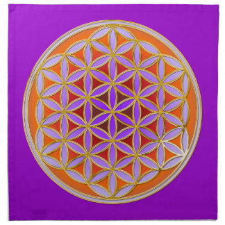 Flower Of Life - Button Style 04 Napkin