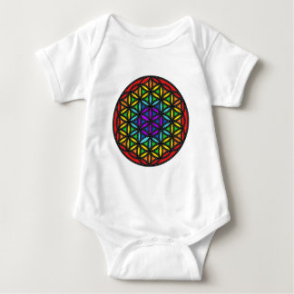 Flower of Life Chakra2 Baby Bodysuit