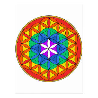 Flower of Life Chakra5 png Post Cards